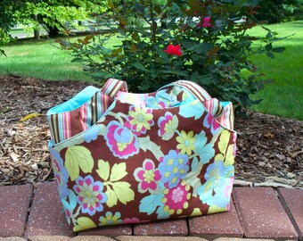 Slipcover Tote Bag Made With Amy Butler Fabric