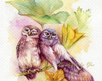"PRINT – Season of Love Watercolor painting 7.5 x 11"""