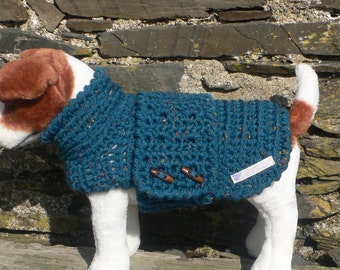 Dog Sweater, Dog Clothes, Dog Outfit, Pet Clothes For Dogs, Fleece Lined Sweater, Crochet Dog Sweater