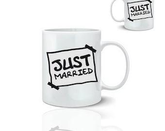 Just married - ceramic mug mug 325 ml