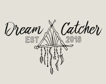 Dream Catcher Logo Boho Fashion Blog Logo Business Gypsy Logo Bohemian Branding Kit Photography Logo Premade Custom Ethnic Logo Tribal Luxe