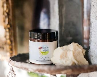 body butter Shea Butter, shea butter body butter, raw shea butter, body butters, lotions, handmade lotion, queen of the meadow, 4 oz