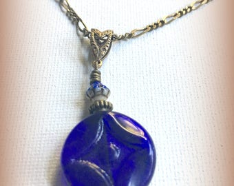 Cobalt Blue glass necklace