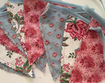 Bunting-British Style-Sweet William-tea party- banner-