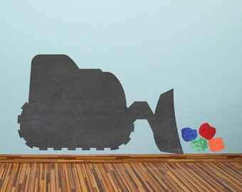 Chalkboard Bulldozer Wall Decals Large - Chalkboard Wall Decals