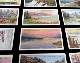 Overseas Dominions Canada  Set of 50 WD & HO Wills  Cigarette Cards  Issued 1914     History Rare Canada