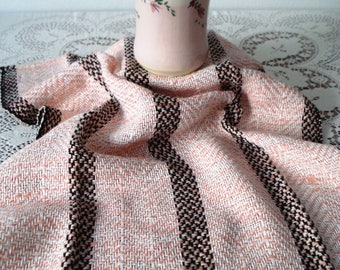 Kitchen towel, dish towel, tea towel, hand woven, pink cotton