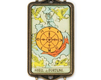 Tarot Card Pendant - Wheel of Fortune (STEAM210)