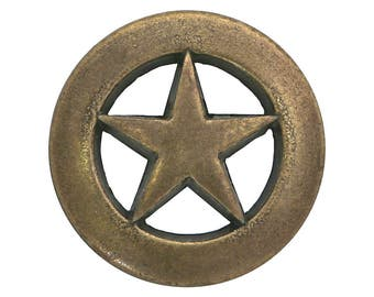 3 Ring Star 3/4 inches ( 20 mm ) Brass Color Metal Buttons