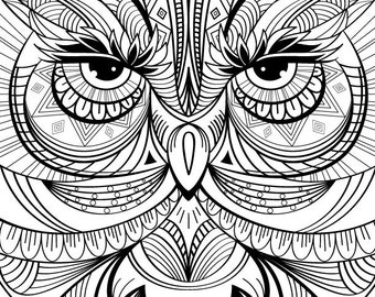 Owl Coloring Page For Calm Relaxation And Stress Relief