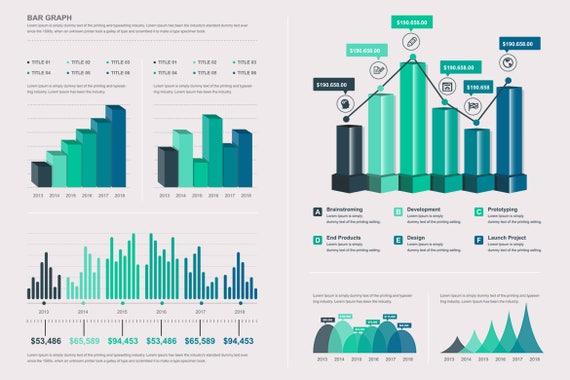 Vektor-Infografik Elemente Große Infografik Elemente Vorlage