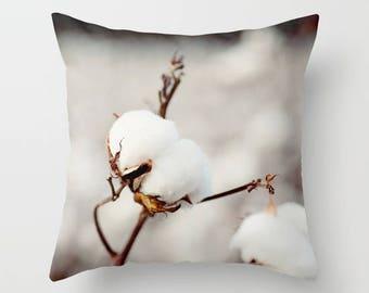 decorative pillow cover, throw pillow, photography pillow cover, white home decor, cotton photography, farm decor , Southern Snow