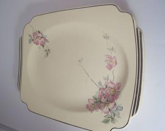 Homer Laughlin   Briar Rose platter