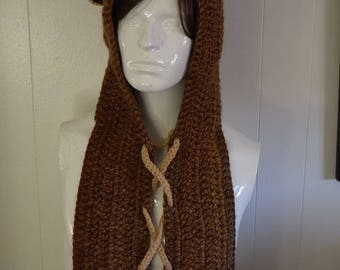 Star Wars Ewok Ears and Hood Crochet Crazy Hat