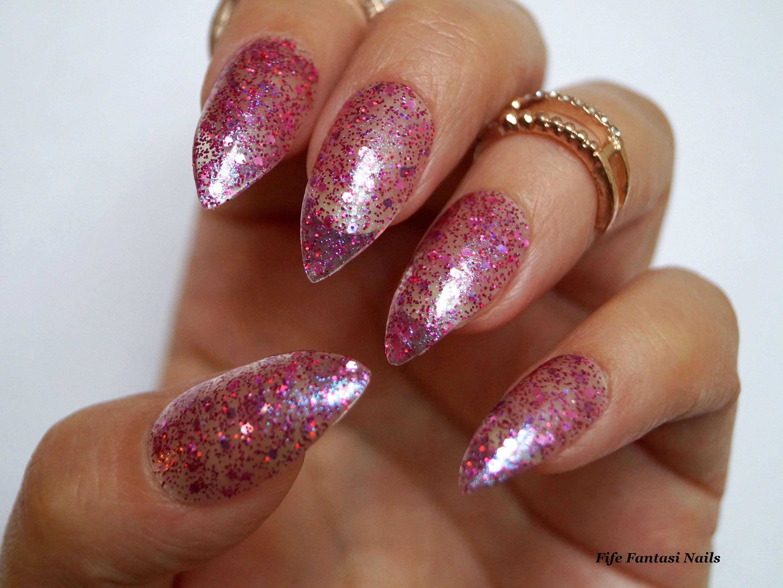 Clear stiletto nails, Nail designs, Glitter nails, False nails ...