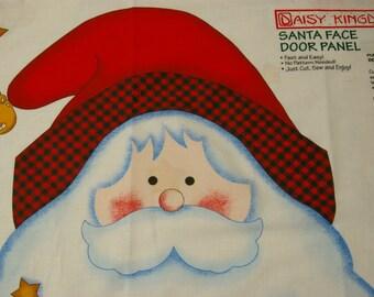 1998 Daisy Kingdom #3147 Santa Face Christmas Door Panel Size 42.5X20.5 Inches