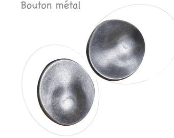 Small button Silver Oval, 20 x 18 mm, hole 2.7 mm