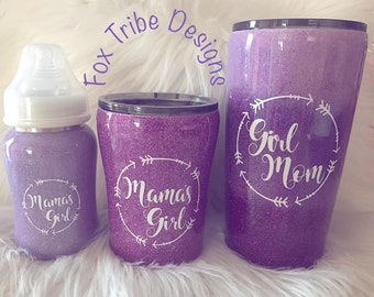 Mommy Daughters Glitter Cup Bundle