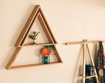 Double Triangle Shelf (Reclaimed Wood)