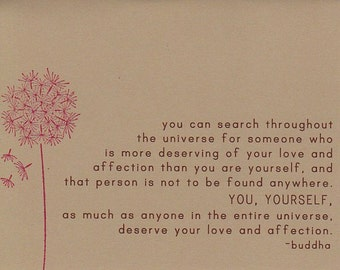 Buddha Quote Card