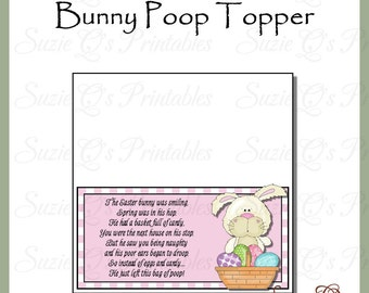 Bunny Poop Toppers - Digital Printable - Immediate Download