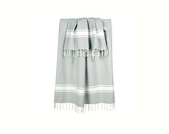 Fouta fringed 100x200cm gray mouse