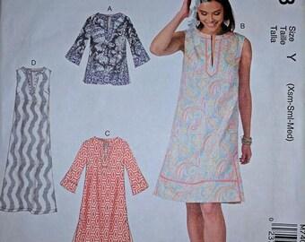 M7408, McCalls, Dress Sewing Pattern, Sewing Pattern, Tunic, Sizes XS-M