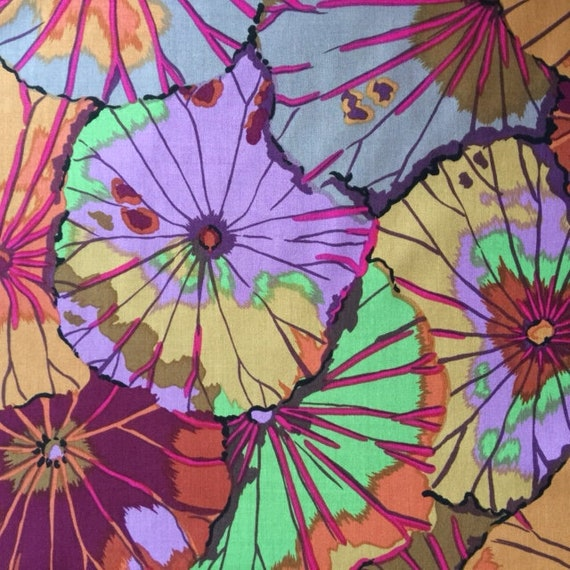 LOTUS LEAF Antique GP29 Kaffe Fassett fabric sold in 1/2 yd increments
