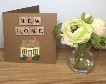 New Home Card, New House Card, Moving Card, Housewarming Card, Scrabble Cards, New home