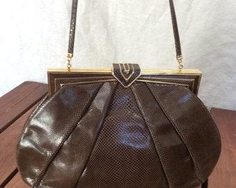 15% OFF VACATION SALE 30 Percent Offsale Judith Leiber Vintage Authentic Brown Shoulder Bag Clutch Purse