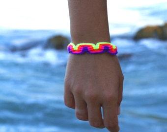 Neon Macrame Bracelet no.1