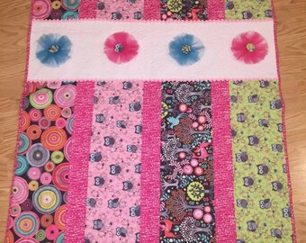 Girls baby quilt