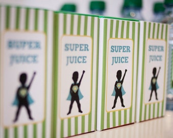 DIY Printable Juice Box Wraps - Superhero Party