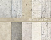 Birch Wood Digital Paper, Country Wedding Wood Grain, Rustic Farmhouse Beige Digital Scrapbook Background, Woodland Baby, Outdoor Wedding