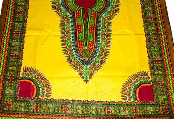 tissu africain jaune