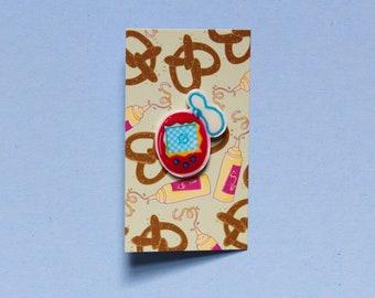 Rad 90s Inspired Tamagotchi Shrink Film Pin
