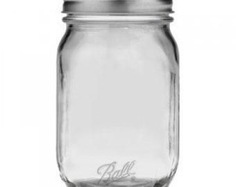 Ball Smooth Sided Mason Jar Regular Mouth 16 oz