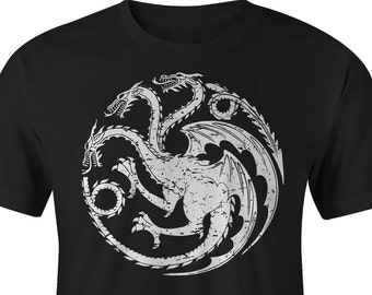 Game of Thrones Tee, Game of Thrones Targaryen T-shirt, Game of Thrones Targaryen T-Shirts, Game of Thrones Targaryen logo, GOT Tshirt