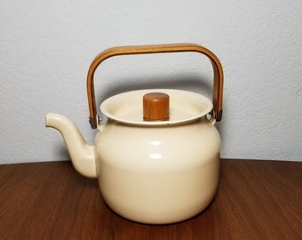 Cream Color Copco Enamel Teapot