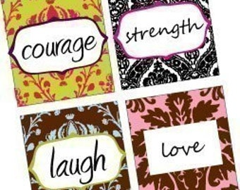 7/8 Inch Pendant Images - Digital Sheet - Amazing Inspirational Sayings and Words - Damask Patterns - BUY  2 Get 1 FREE