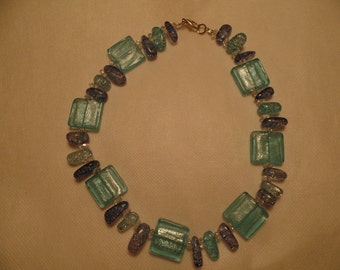 """16"""" Blue Square Ice Necklace"""