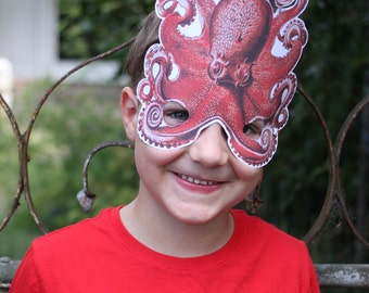 Red Octopus Mask