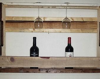 Large pallet wine rack