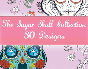 Colouring Designs - The Sugar Skull Collection