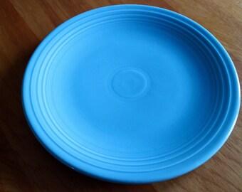 Original Turquoise Fiesta Dinnerware 15 inch Chop Plate Fiestaware