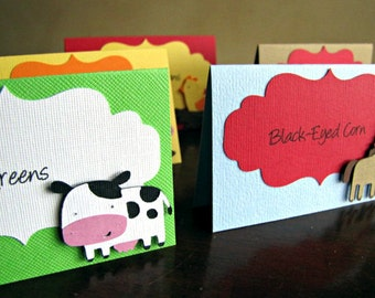 Farm Place Cards, Barn Party Food Labels, Barn Buffet Labels, Farm  Food Cards, Farm Birthday Party, Barn Baby Shower Labels, Set of 10