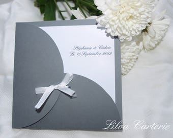 Elegant and original wedding invitation