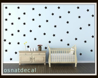 FREE SHIPPING wall decal black stars, a large amount 170 black stars. wall sticker. homedecor.