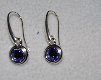 Sapphire drop earrings | Etsy