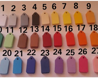 30 tags in various colors / tags / colors to choose / labels / tags / monochrome / twine included / gift items / tags/tags sets/scrapbooking